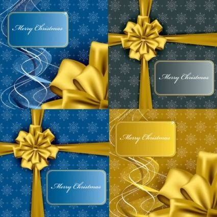 Christmas gift box packaging vector