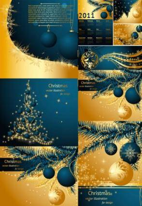 free vector Vector gold christmas 2011