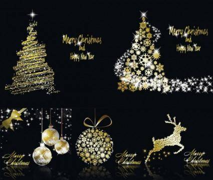 free vector Glittering christmas element vector