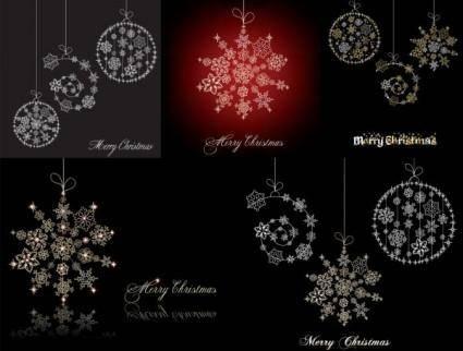 Christmas snowflake ornaments vector