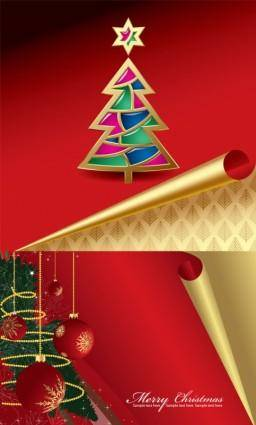 free vector Roll angle of the christmas card vector