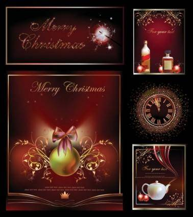Christmas decorations vector 25246