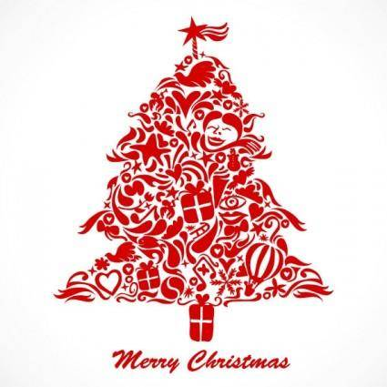 free vector Graffiti christmas tree vector