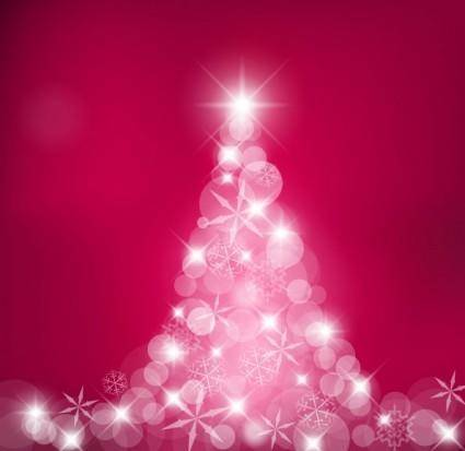 free vector Dream christmas tree vector
