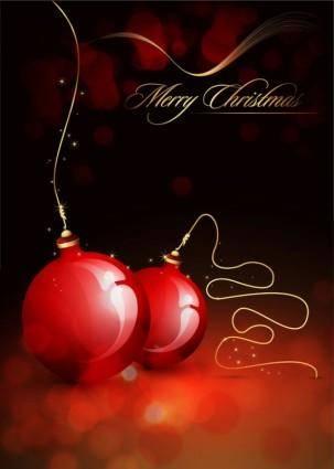 Christmas ball hanging crystal style vector 1