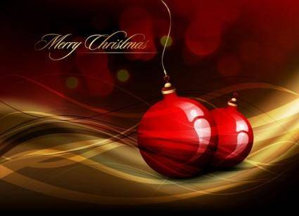 free vector Christmas ball hanging crystal style vector 2