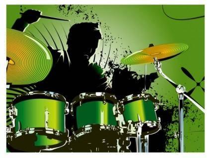 free vector Fine drum 03 vector