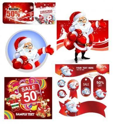 free vector Vector christmas discount sales calendar