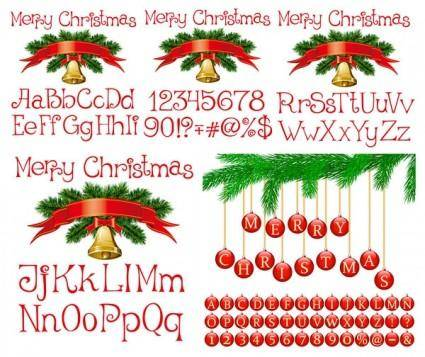 free vector Vector christmas alphanumeric