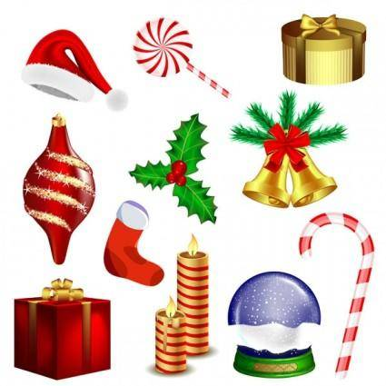 free vector Christmas vector goods