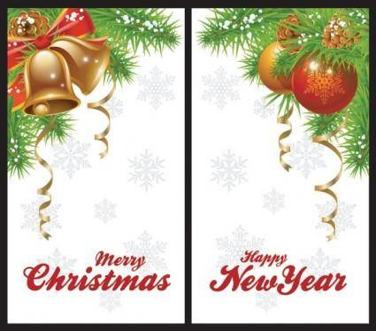 Christmas bells and beautiful hanging ball vector