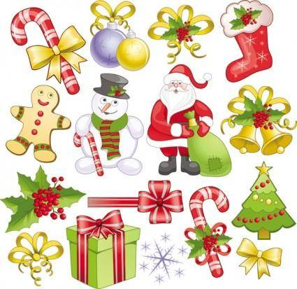 Christmas decorations 2 vector