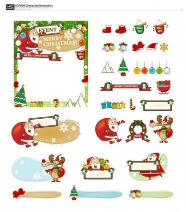free vector Bookmark and christmas gifts vector