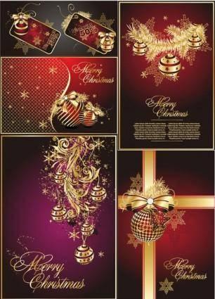 free vector Golden christmas theme vector