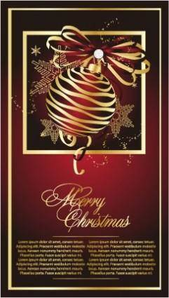 free vector Golden christmas theme vector 2