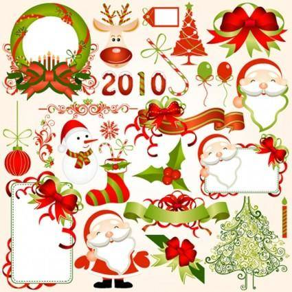 free vector 2010 christmas element vector