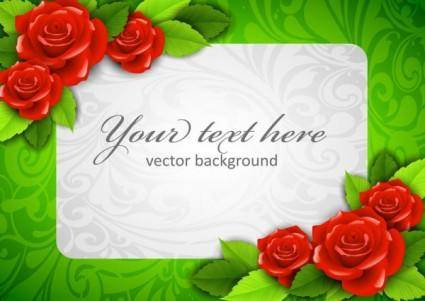 Roses border 03 vector