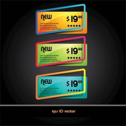 free vector Beautiful boxes 02 vector