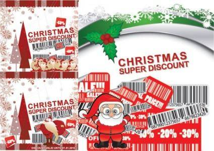 Christmas discount sales vector