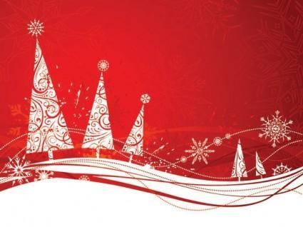 Simple christmas snowflakes vector