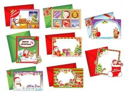 free vector 8 lovely christmas card vector