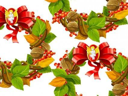 Christmas wreath cool texture vector 2