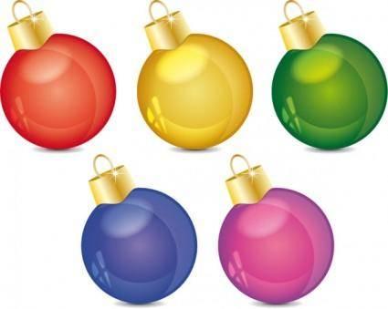 free vector Christmas decoration ball vector
