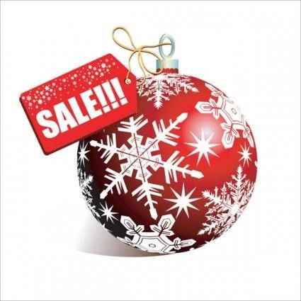 Christmas discount sales vector