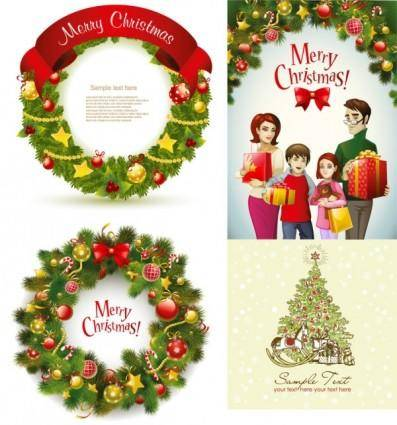 free vector Beautiful christmas wreath vector