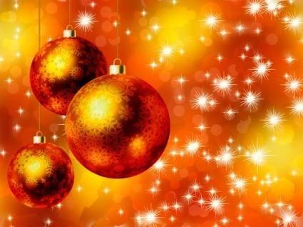 free vector Beautiful christmas ball 02 vector