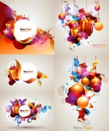 free vector Vector 2 colorful christmas gift