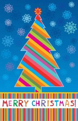 free vector Merry Christmas Greeting Card Vector Illustration