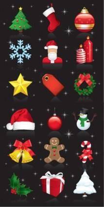 Christmas Ornaments Vector Set