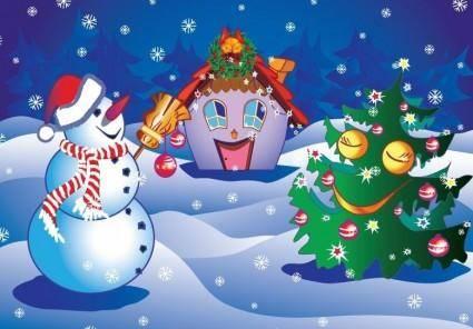 free vector Christmas Poster Vector Illustration