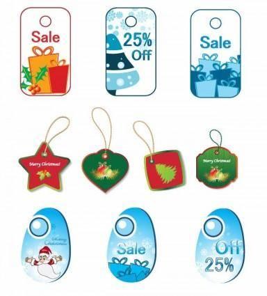 free vector Christmas Tags Vector Set