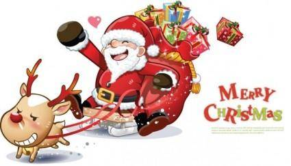 free vector Lovely Santa Claus Vector Graphics