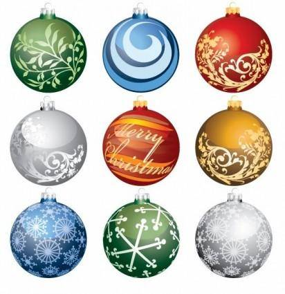 free vector Christmas Ornament Balls Vector Set