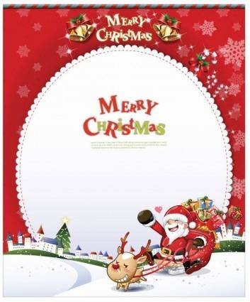free vector Card with Santa Claus