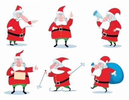 free vector Christmas Santa Claus Vector Set