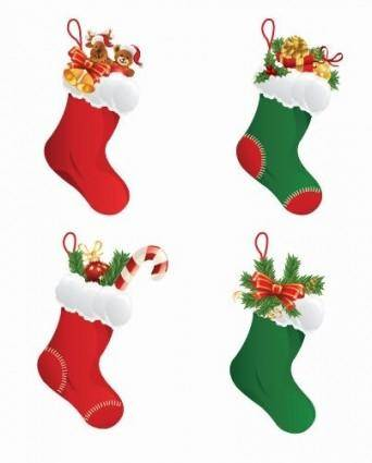 Christmas Stockings Vector Graphic