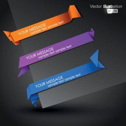 free vector Beautiful origami graphics 03 vector