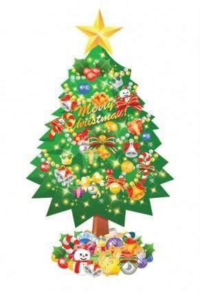 free vector Christmas Tree Vector Illustration