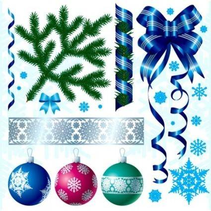 free vector A Variety of Christmas Decorations Vector Material