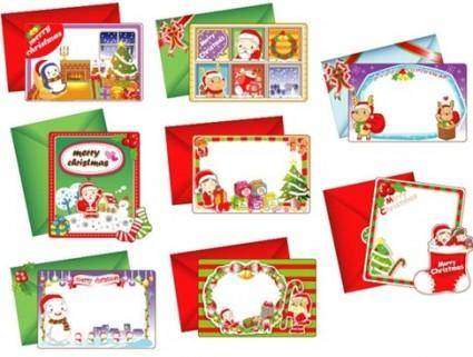 free vector 8 Lovely Christmas Vector Cards