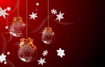 free vector 4 Christmas hanging ball Vector Graphics