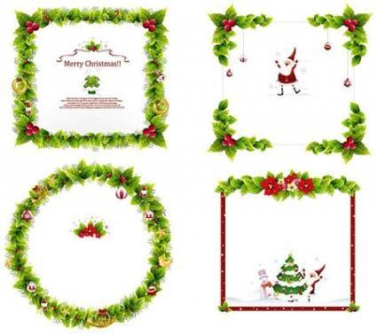 Christmas Ornament Frame Vectors