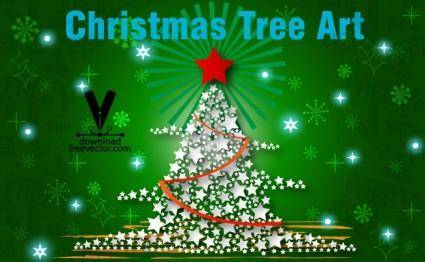 free vector Christmas Tree Art