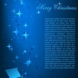 free vector Sparky Merry Christmas Card