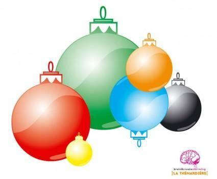 free vector Christmas' Bubbles