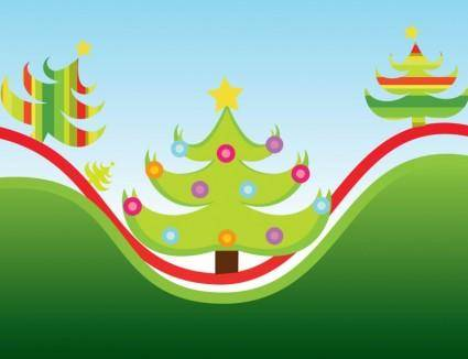 free vector Christmas Trees